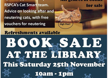 Book sale, Saturday 25 November 2017