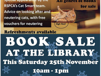 Book sale, Saturday 25 November 2017