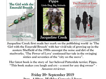 Author event: Jacqueline Creek, 20 September 2019