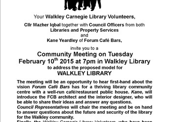 Important community meeting 7pm 10 February 2015 - Be there!
