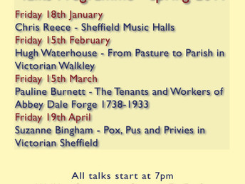 Spring series of Walkley Historians talks 2019