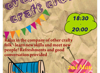 The Craft Club is back, 2 May 2017
