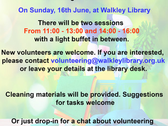Library (late) spring clean, Sunday 16 June 2019