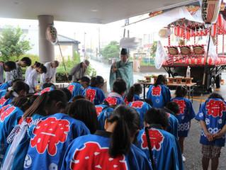 台風到来の「自治会夏祭り」