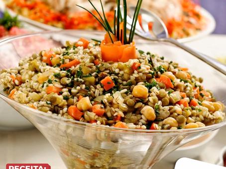 RECEITA: Salada de Grãos