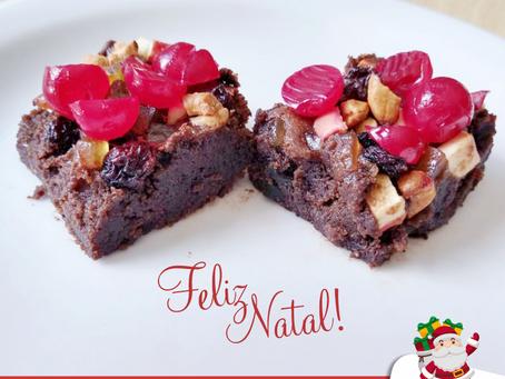 RECEITA: Brownie Natalino com Grão de Bico