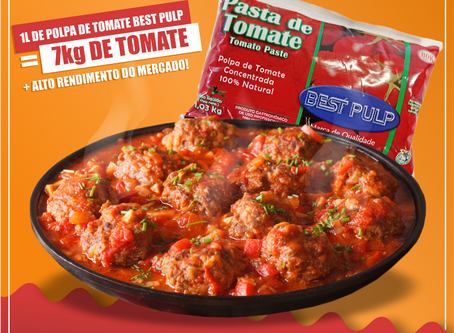 Transforme 1kg de Polpa em 5 litros de molho de tomate!