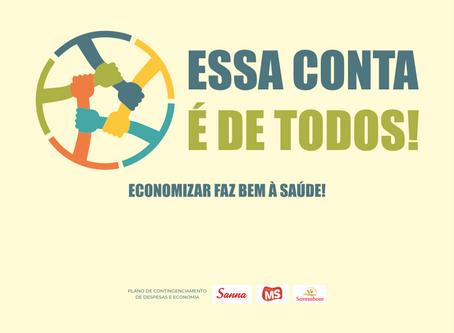 Campanha conscientiza colaboradores para economia de recursos