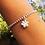 Thumbnail: Silver Paw Print Charm Bracelet