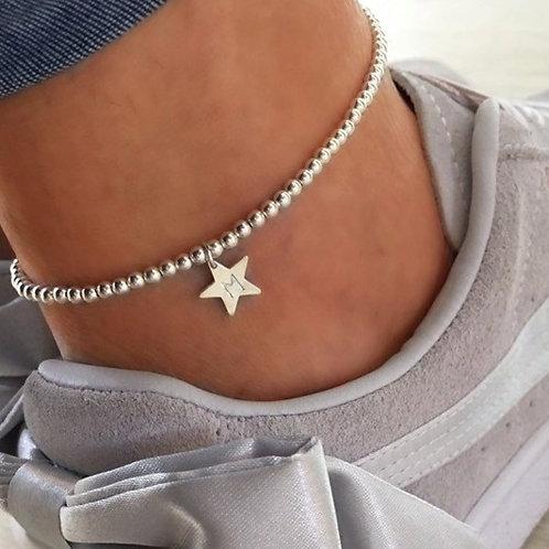Personalised Sterling Silver Ankle Bracelet