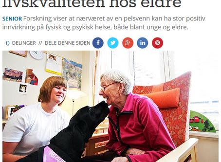 Kjæledyr kan bedre livskvaliteten hos eldre