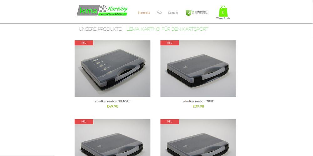 Onlineshop lema Karting Zündkerzenbox