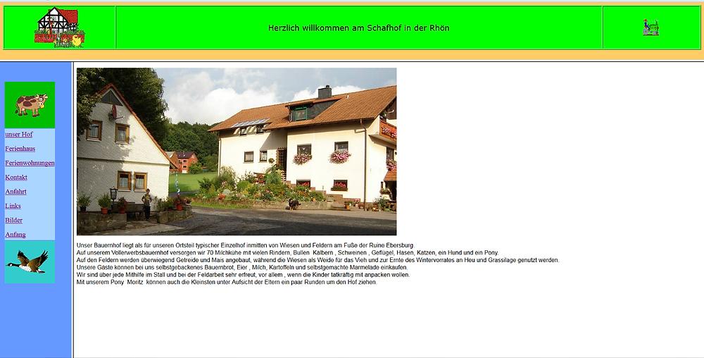 Neue Homepage Ferienhof Weichlein von lema webdesign