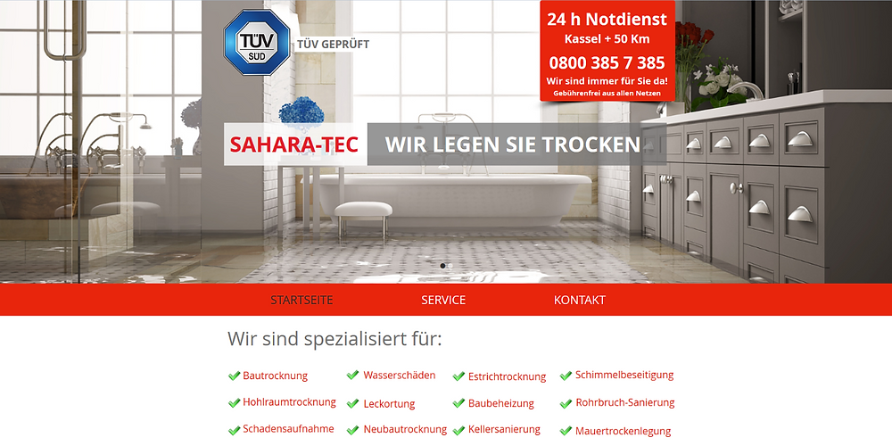 Neue Webseite erstellt durch lema webdesign