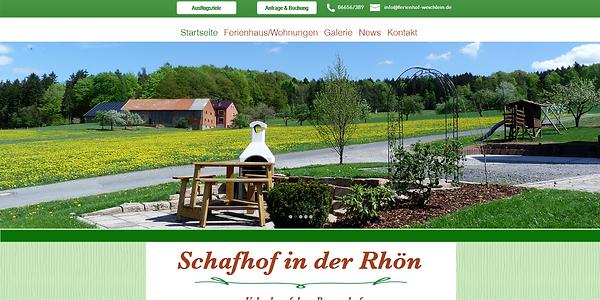 Webseite Ferienhof Weichlein, erstellt von lema webdesign