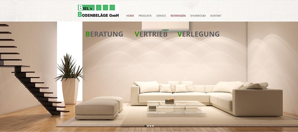 lema webdesign erstellt Homepage für biel's Bodenbeläge