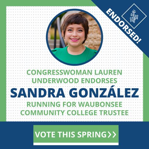 Comité de acción política Farm Team/Congresista Lauren Underwood patrocina a Sandra