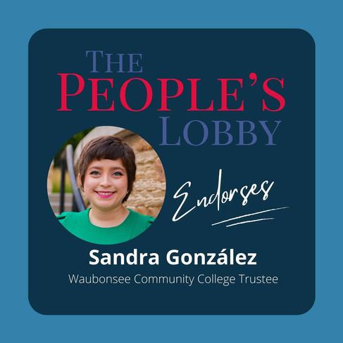 The People's Lobby patrocina a Sandra