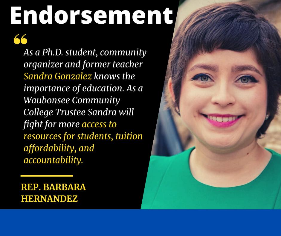 Representante Hernandez patrocina a Sandra