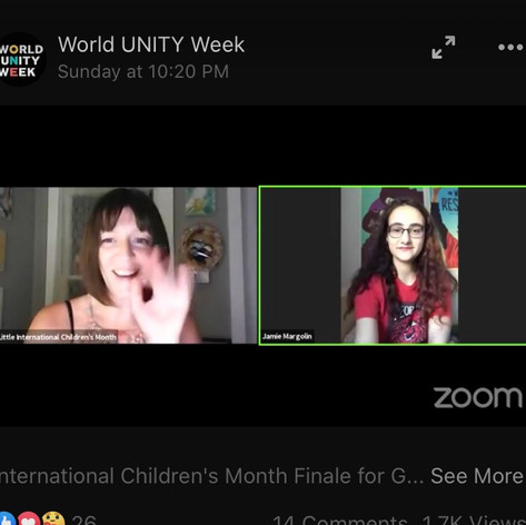 Jamie Margolin and Heidi Little International Children's Month 2020 June