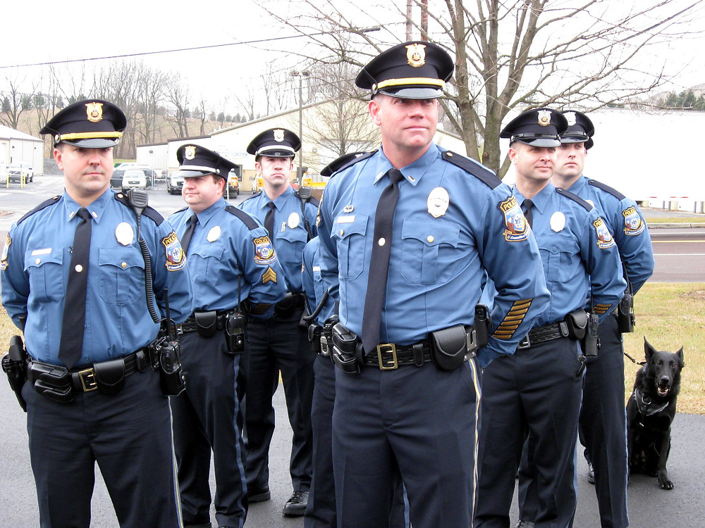 Police Officers On Display