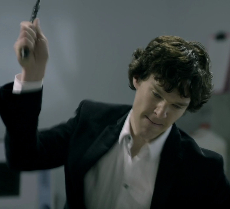 Sherlock Using Riding Crop