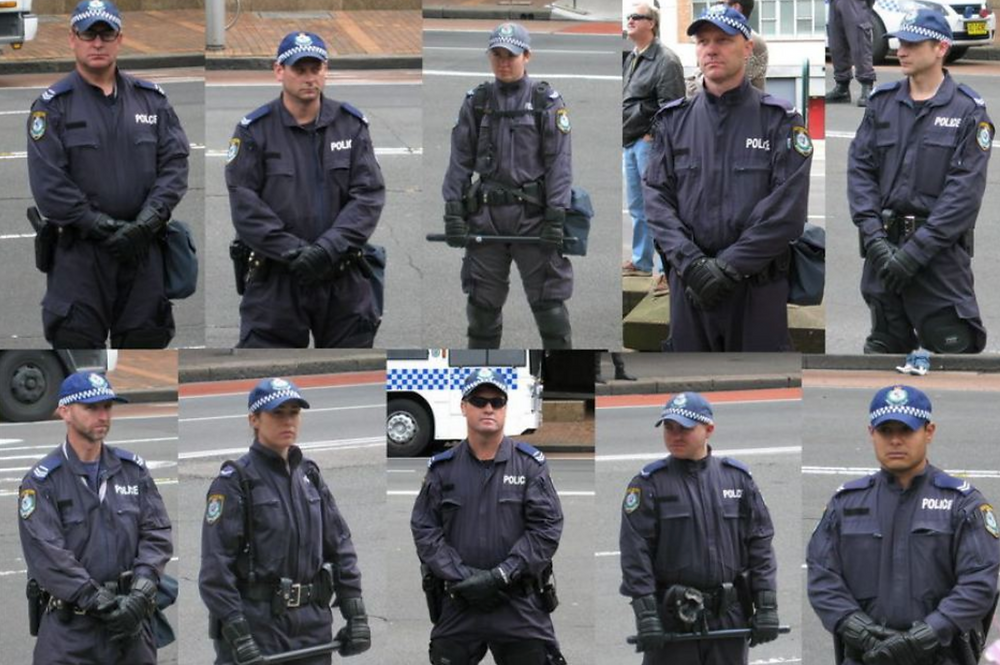 Police Officers Without Badges, or Identification Visible