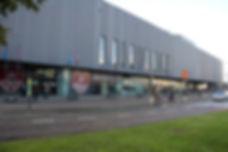 Lotto Arena Antwerpen evenementencomplex gebouw vooraanzicht overdag