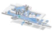 Plattegrond van Brussels Airport Zaventem luchthaven aankomsthal met bagagezaal, douane en balies voor beschadigde bagage (Aviapartner, Brussels Airlines en Swissport)