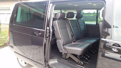 Volkswagen T6 Caravelle achterbank 2de zitrij lederen interieur
