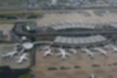 Paris Charles de Gaulle Parijs Aerial view