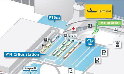 Pick-up point Brussels Airport P15