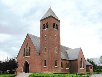 Sint-Rochuskerk Lummen symbool voor de stad waarvoor wij luchthavenvervoer voorzien naar alle luchthavens