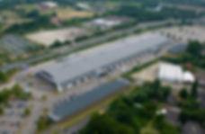 Nekkerhal Mechelen Brussels North evenementencomplex gebouw vogelaanzicht overdag