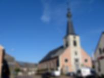 Sint-Guibertuskerk Itegem deelgemeente Heist-op-den-Berg symbool voor de stad waarvoor wij luchthavenvervoer voorzien naar alle luchthavens
