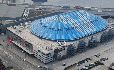 Sportpaleis Antwerpen evenementencomplex gebouw vogelaanzicht overdag