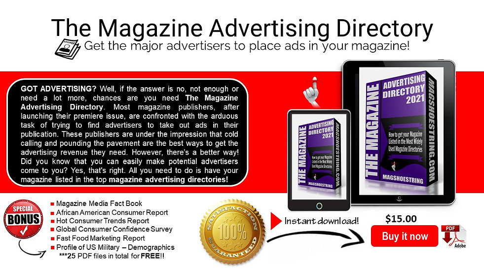 New Magshoestring Advertising Direc Webs