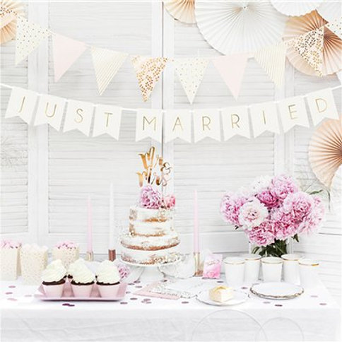 White just married bunting