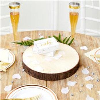 Wooden slice Centrepiece