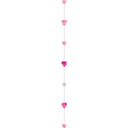 Pink and Silver heart glittery balloon tail