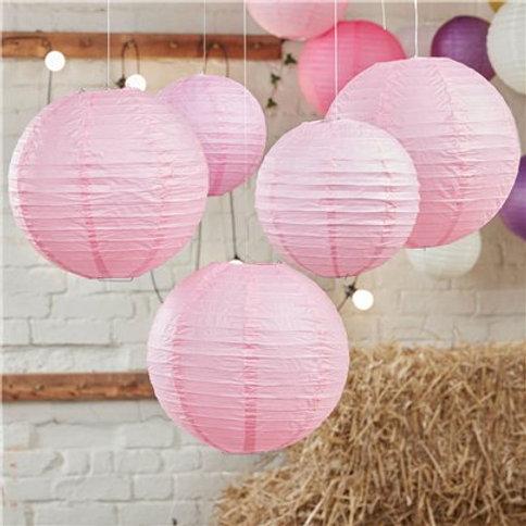 Boho baby pink paper lantern