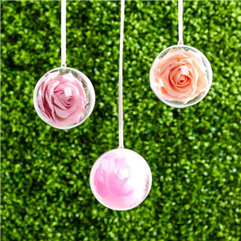 Plastic hanging bauble decoration