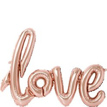 "Rose gold love foil balloon 30"""