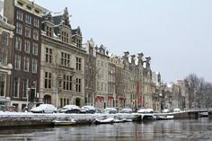 アムステルダム雪景色