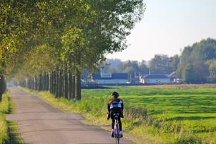 オランダ 自転車のある風景