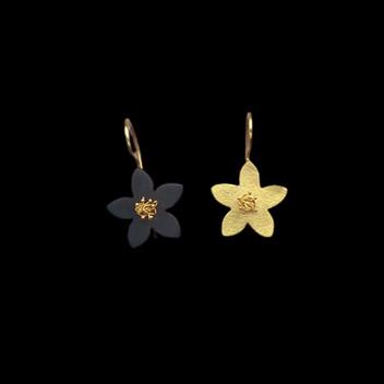 Paula Vieira Jewellery 19.2k Gold Earrings and Hematite