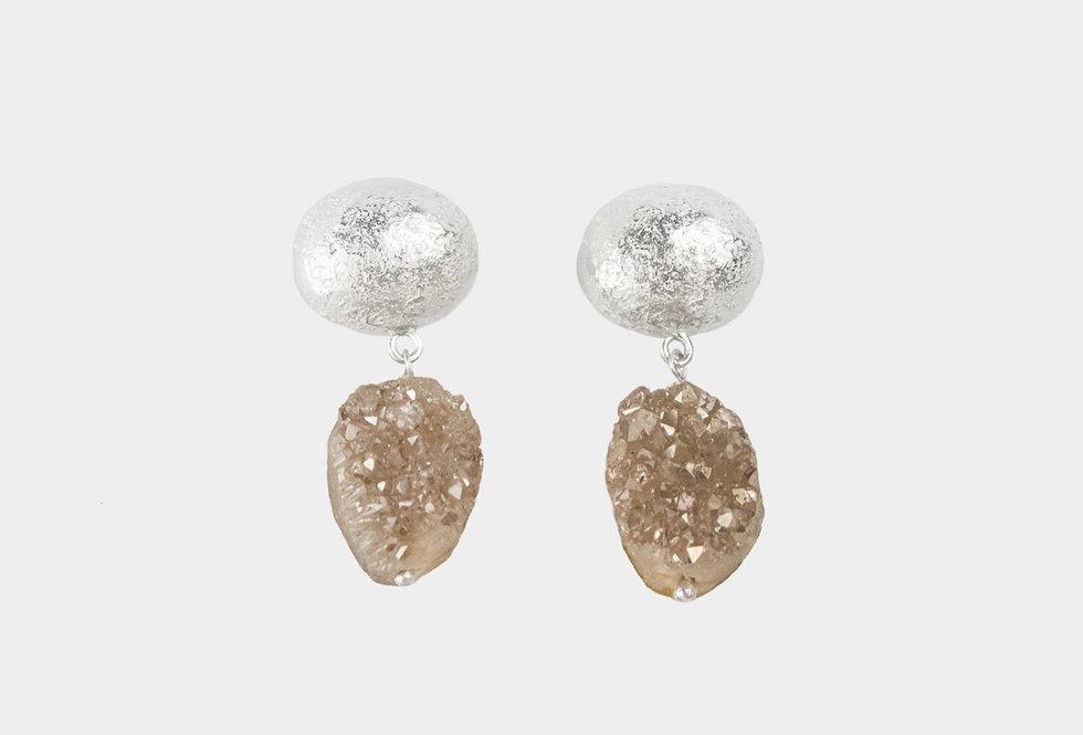 Paula Vieira Jewellery Angel Quartz Silver Earrings
