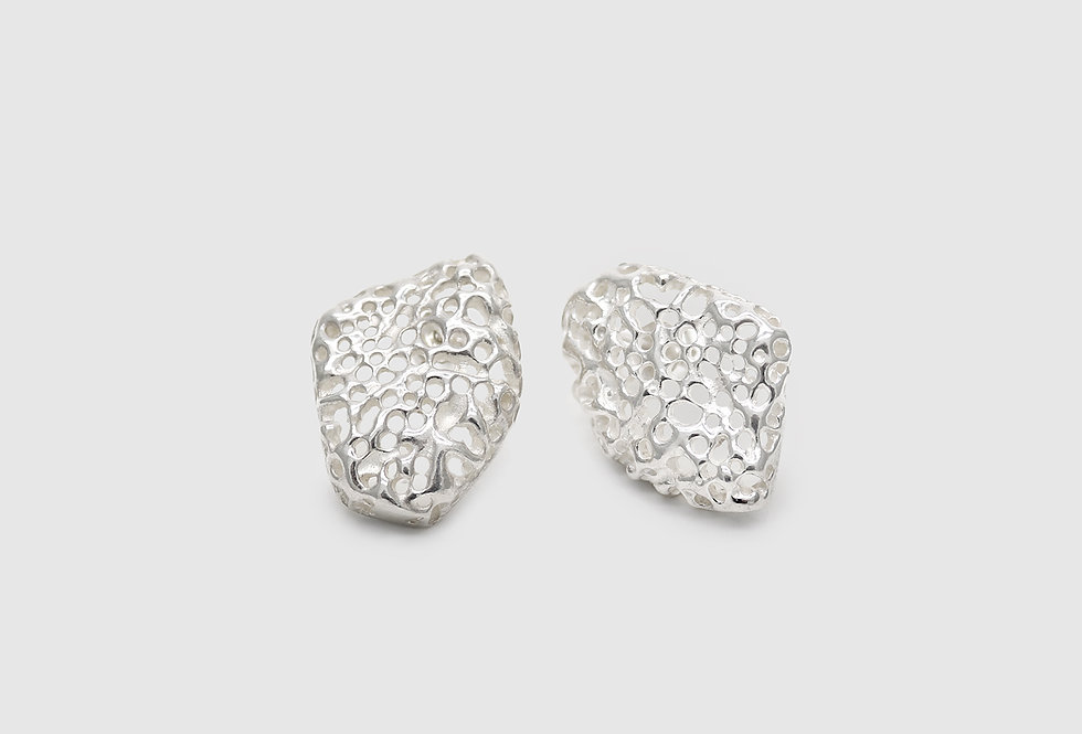 Vulcana Silver Earrings