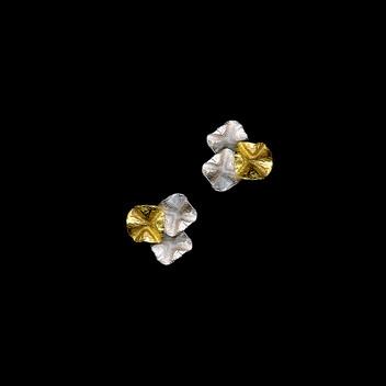 Paula Vieira Jewellery 19.2k Gold  and 925 Silver Earrings