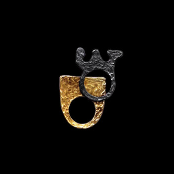 Paula Vieira Jewellery 19.2k Gold and 925 Silver Ring